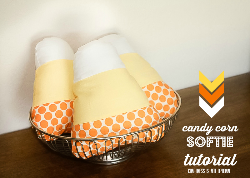candy corn softie tutorial and free pattern!