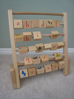 thrifted wooden alphabet toy!