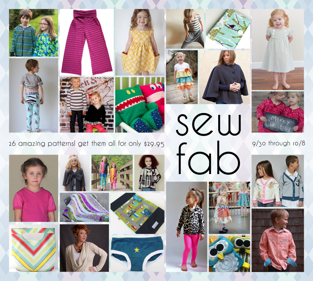 sew fab sale pattern collage