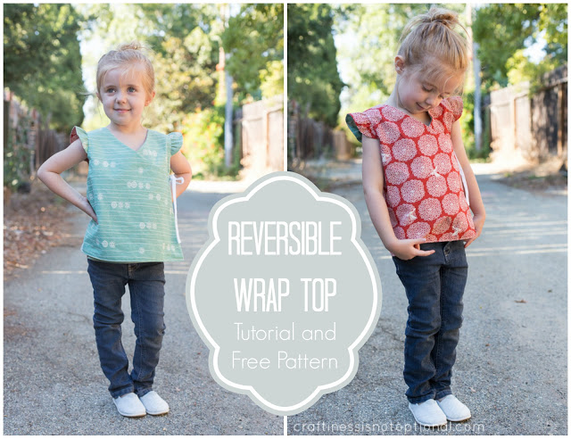 reversible wrap top