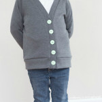 grey & mint greenpoint cardi by craftiness is not optional