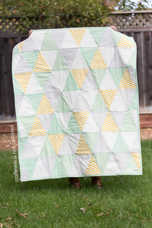 triangle quilt full view by craftiness is not optional