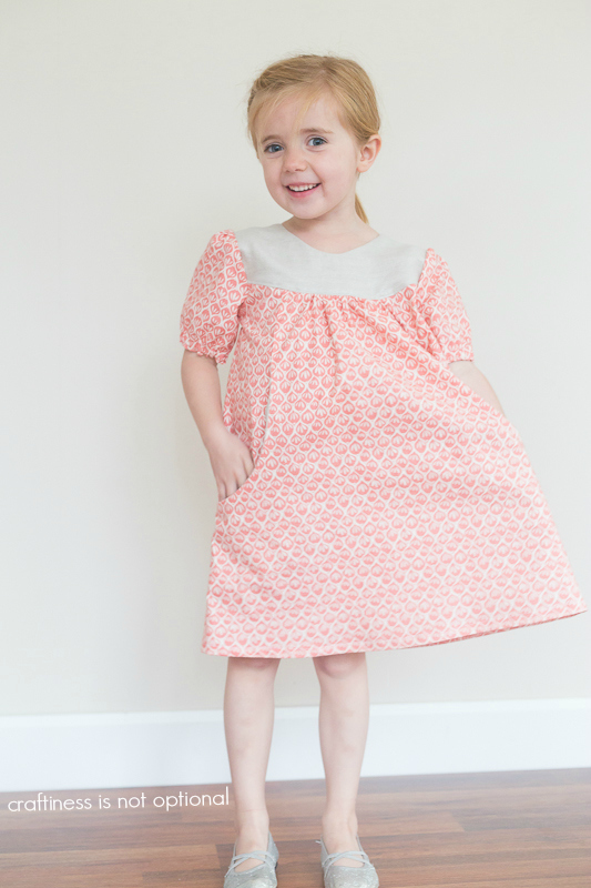 coral leaf dress by craftiness is not optional