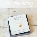 giveaway! gold dipped hexie necklace review  craftiness is not optional