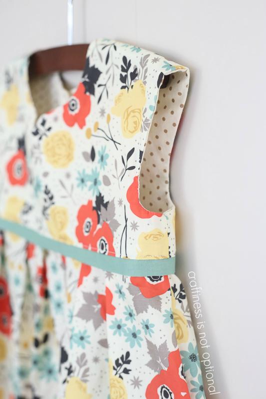modern yardage geranium dress details  craftiness is not optional