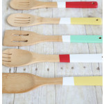 DIY color blocked painted utensils