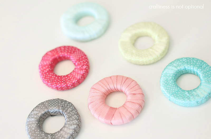 ribbon and washer fabric weights tutorial