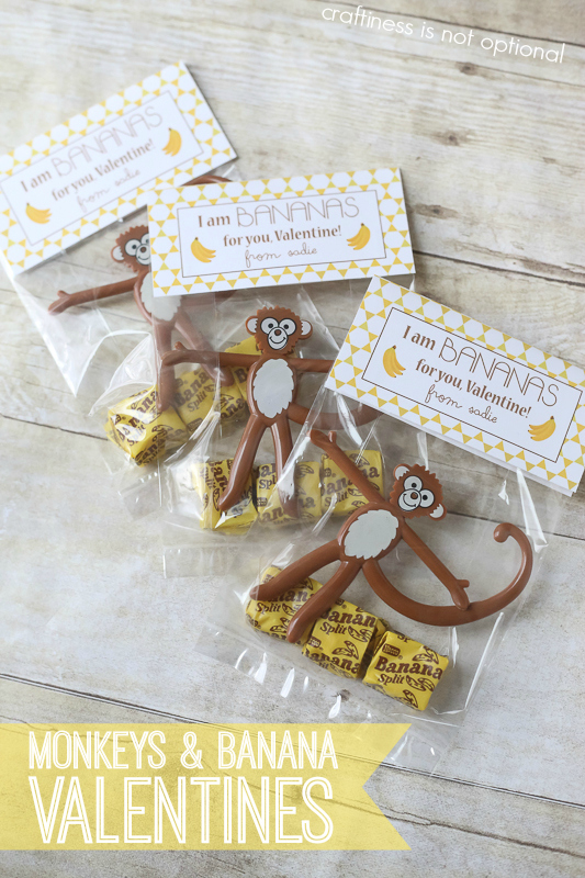 monkeys and banana valentines-free printable!