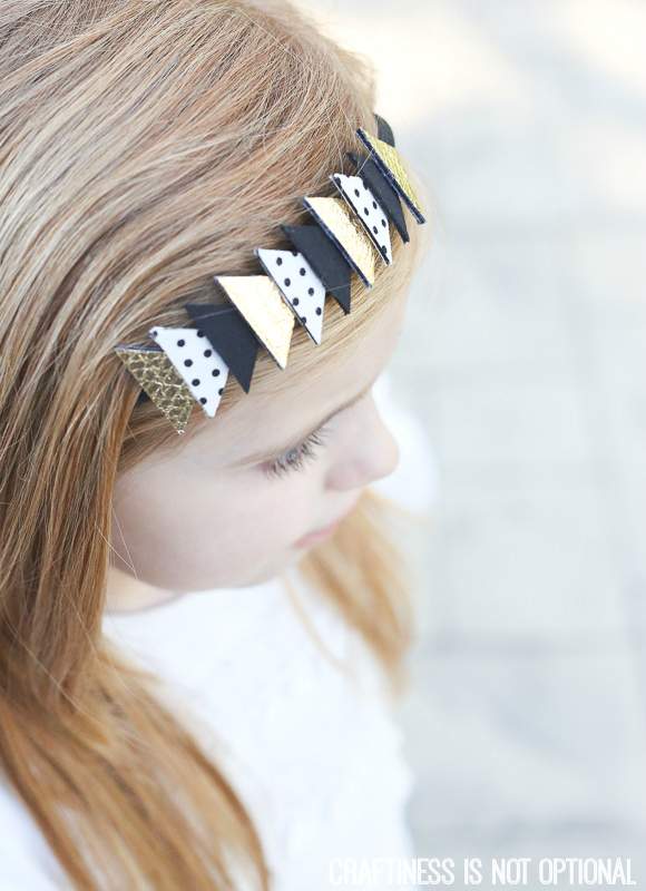 fabric triangle headband tutorial