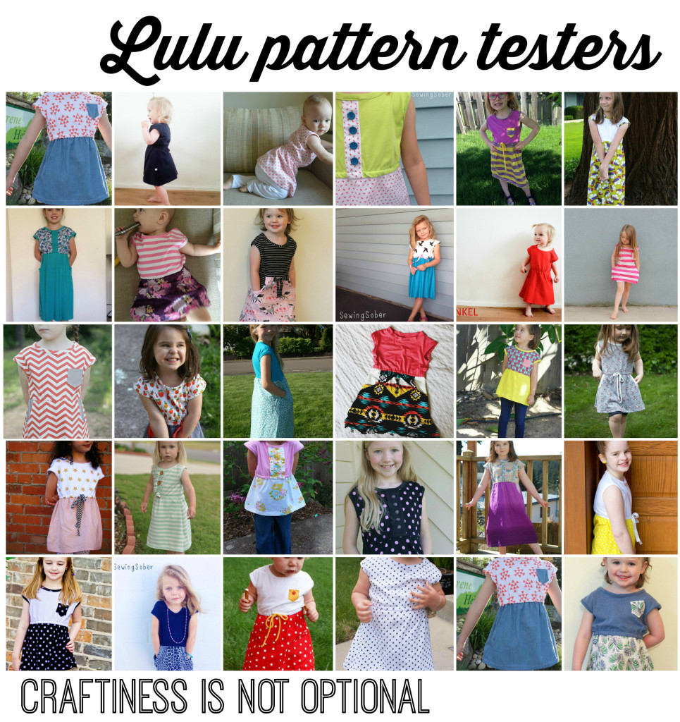 lulu pattern testers  craftiness is not optional patterns