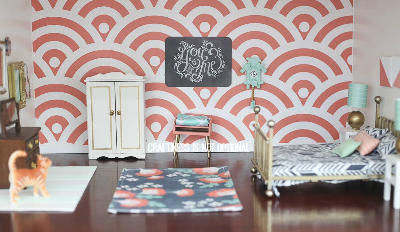 Diy Dollhouse Master Bedroom Sewing Nook Bathroom