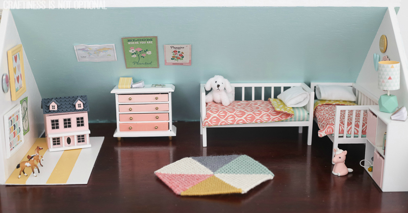 Diy Dollhouse The Girls Bedroom And Nursery