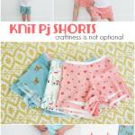 knit pj shorts