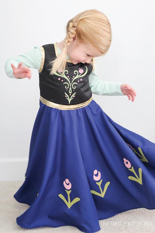 Anna Frozen vestido de Carnaval