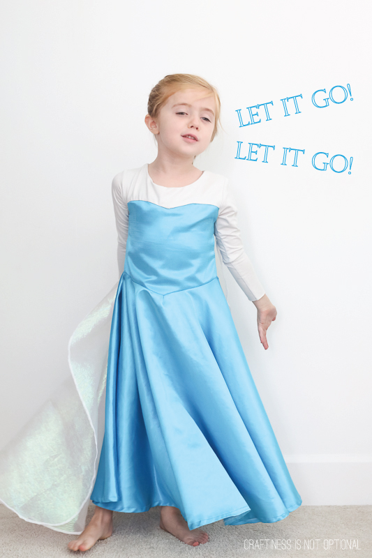 sc 1 st  Craftiness Is Not Optional & Elsa frozen costume
