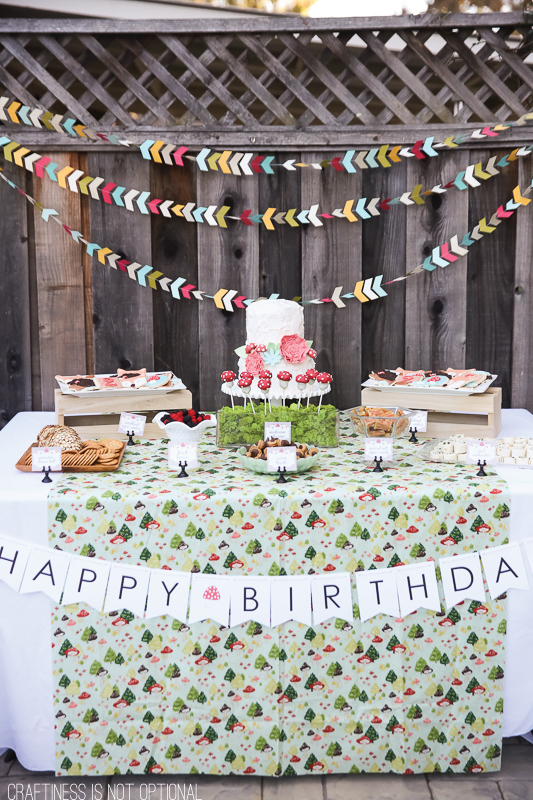 sweet woodland birthday party
