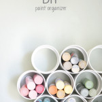 easy DIY paint organizer