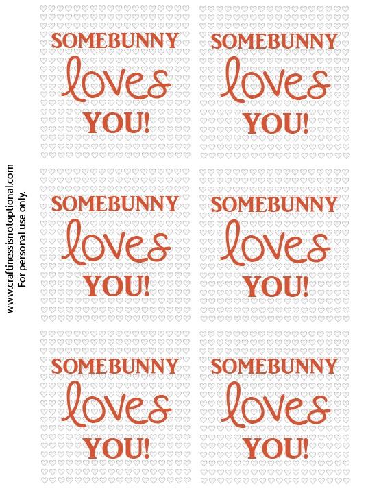 bunny valentine printable CINO