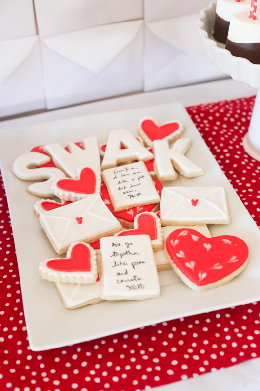 love letters Valentine party