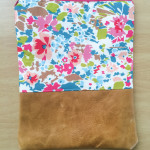 liberty and leather foldover clutch