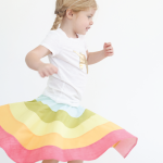 rainbow skirt tutorial and free pattern! #rainbow #rainbowskirt