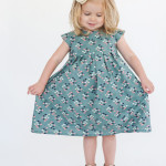 teal cotton & steel geranium dress