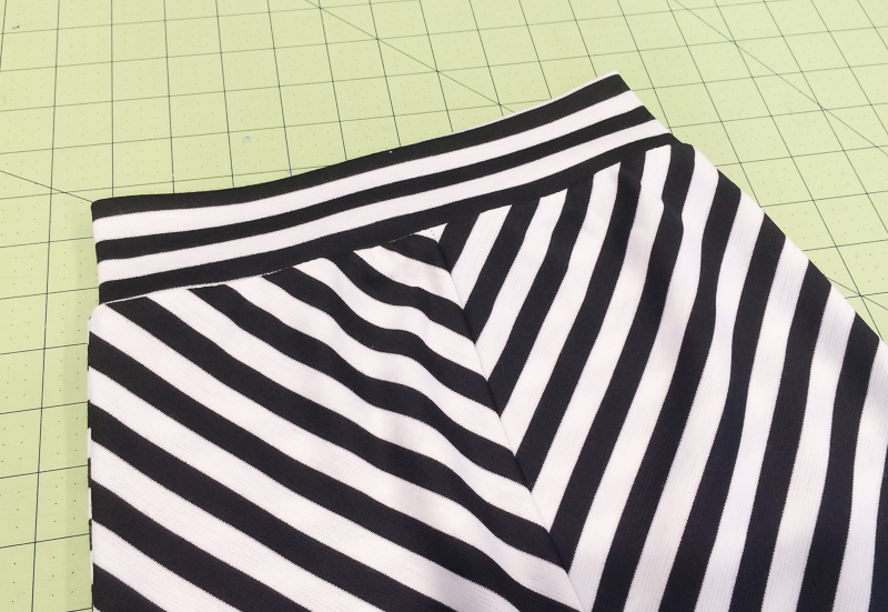 striped bias skirt tutorial and free pattern
