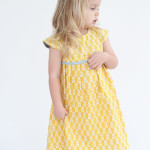 bright yellow geranium dress