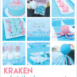cute kraken birthday party