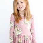 lavender floral kensington dress